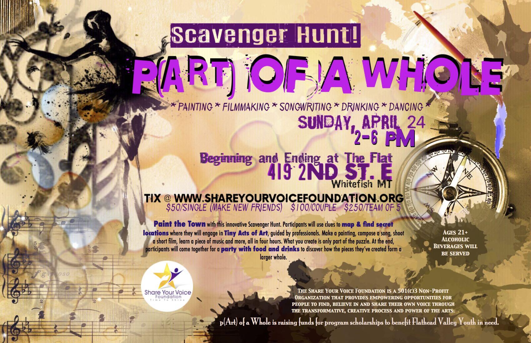 p(Art) of a Whole Scavenger Hunt